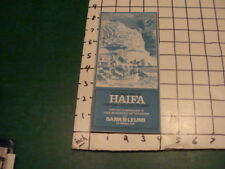 Vintage Original ISRAEL Item: brochure: Pictorial Map of HAIFA