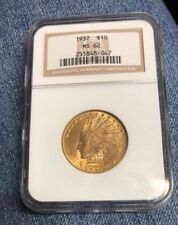 US Gold $10 Indian Head Eagle - NGC MS62 - 1932 !