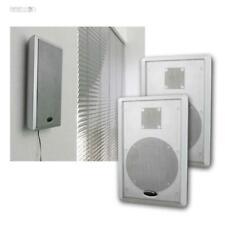 Flat Panel Slim Fine Flach Wand Lautsprecher Paar silber 2Wege Surround Stereo