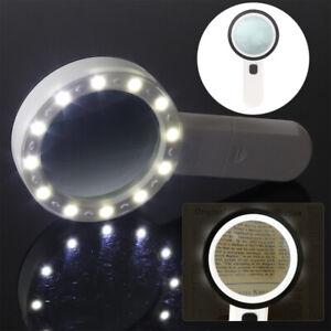 30 Fach Lupe Vergrösserung mit LED Licht Lampe Juwelierlupe Vergrößerungsglas