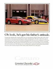 1996 Chevrolet Camaro Z28 and race car ad,  24 x 36 INCH POSTER,  sports car