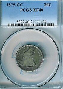 1875-CC Twenty Cent Piece : PCGS XF40