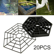 20 pcs PP Pond Protectors Fish Guard Grid Floating Cover Net Heron Deterrent