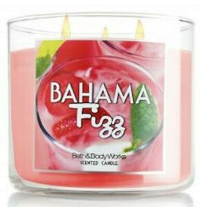 Bath Body Works BAHAMA FIZZ 3 Wick 14.5 oz  Candle PINEAPPLE BANANA KIWI Rare