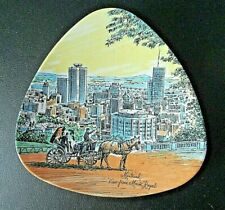 """Vintage """"Montreal View From Mt. Royal"""" Souvenir Triangle Dish By Ornamold"""