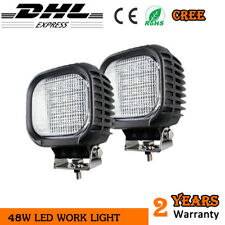 2x 48W LED Work Light Excavator Driving Lamp 4WD SUV 12V ATV Car External lights