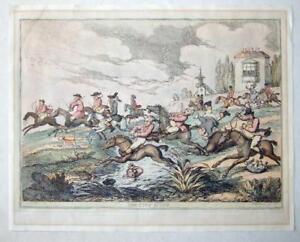 The City Hunt c. 1810 hand coloured etching Thomas Rowlandson, H. Bunbury