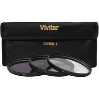 Vivitar 82mm UV, Polarizer & FLD Deluxe Filter kit (set of 3 + carrying case)
