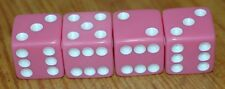 DUDDS DICE DARK PINK w/WHITE DOTS VALVE STEM CAPS (4 PACK) FITS FORD, CHEVY#20