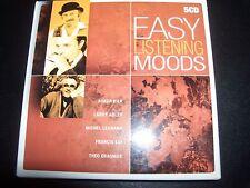 Easy Listening Moods 5 CD Acker Bilk Larry Addler Francis Lai Michael Legrand &