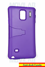 Funda Samsung N910 Galaxy Note 4 protectora bumper con soporte violeta