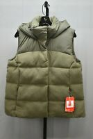 +The North Face Novelty Nuptse Goose Down Hooded Vest, Women's Size L, Olive NEW
