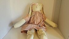 Vintage Stuffed Girl Rabbit Bunny 19 Inches Cl21-4