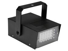 STROBOSCOPE MINI STROBO A 24 LED REGLABLE JEU LUMIERE SPOT LAMPE PROJECTEUR
