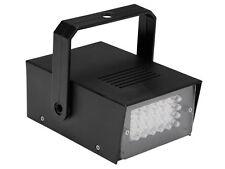 STROBOSCOPE MINI STROBO A 24 LED REGLABLE JEU LUMIERE SPOT LAMPE PROJECTEUR