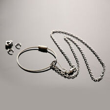 Bird Parrot Foot Chain Stainless Steel Ankle Foot Ring Stand Chain Bird Train Jg