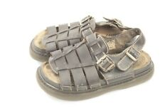 Men's Brown Leather Open Toe Fishermen Sandal Size 10 Utility Adjustable