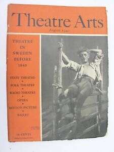THEATRE ARTS MONTHLY August 1940 Anders de Wahl Swedish Drama August Strindberg