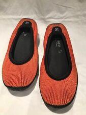 Arcopedico Orange Stretchy Mesh Fabric Ladies Flat Shoes Size 8.5- 9 EU 39