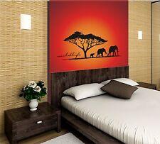 Wandtattoo Wandaufkleber Afrika Einfarbig E036g