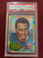 Walter Payton 2001 Topps Archives 1976 Reprint Rookie Card PSA 10 Gem Mt Bears