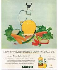 1957 Mazola Corn Oil Glass Cruet Pitcher Sliced Vegetables art Vtg Print Ad