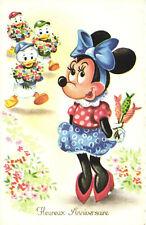 PC DISNEY, MINNIE MOUSE, HUEY, DEWEY AND LOUIE DUCK, Vintage Postcard (b28609)