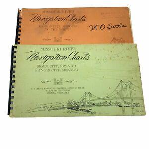 Missouri River Navigation Chart Books. Sioux City, Iowa to KC & KC to Mouth