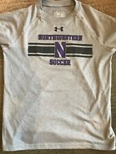 Northwestern University Youth Boys Medium  Shirt Heatgear Loose Under Armour