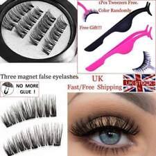 Triple Magnetic Eyelashes Handmade Reusable False Eye Lashes Extension UK Stock