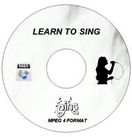 NEW LEARN TO SING AUDIO MP4A MPEG-4 PROFESSIONAL VOICE TRAINING ON CD / DVD PC