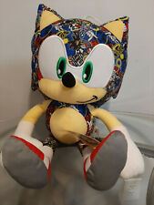 "Sonic the Hedgehog Sonic Sticker Bomb Plush Giant Plush 18"" Licensed Sega"