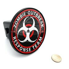 """2"""" Tow Hitch Receiver Cover Insert Plug for Most Truck & SUV - ZOMBIE OUTBREAK"""