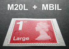 NEW OCT 2020 1st LARGE M20L + MBIL Machin SINGLE STAMP from Business Sheet
