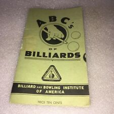 Vintage pamphlet ABC's Of Billiards USA 1948 Billiard and Bowling Institute
