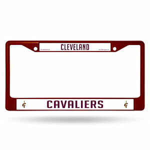 Cleveland Cavaliers NBA Maroon Painted Chrome Metal License Plate Frame