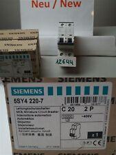 Siemens C20 5SY42 Interruttore magnetotermico 5SY4220-7 2 POLI 400v 20A