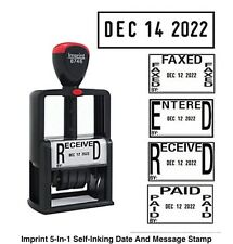 5 In 1 Date & Message Stamp Self-Inking, Black Ink