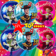 NEW 6PC Toy Story Woody Buzz Birthday Party Balloons Balloon BALLOONS