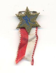 1939 Zurich Basel Switzerland World Ice Hockey Championships OFFICIAL pin badge