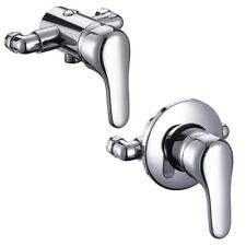 Manual Chrome Single Lever Shower Mixer Valve EXPOSED CONCEALED -150mm