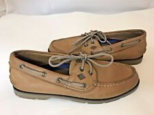 SPERRY TOPSIDER LIGHT TAN BOAT SHOE SZ 8M MENS