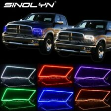 RGB LED Angel Eyes DRL SMD Halos For Dodge Ram Sport Quad Truck Headlight Tuning