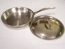 """Member's Mark Tri-Ply Stainless Steel 9.5"""" Fry Pan with Lid 2000 Series"""
