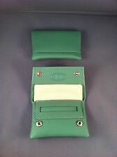 SMALL / MINIATURE GBD Leather Tobacco Cigarette Rolling Pouch - Green