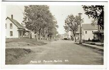 Monson ME Main Street General Store Dirt Road RPPC Real Photo Postcard