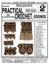 Weldon's 2D #23 c.1886 Victorian Era Crochet Lace Edges