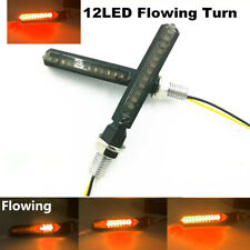 Universal Motorcycle LED Sequential Flowing Turn Signal Indicator Blinker Lights