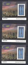 (MMS041) MALAYSIA 1997 Petronas Twin Towers Mini Sheet (X5) Sequential Nos. MNH