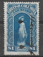 CANADA  Van Dam BCL 4 British Columbia Law Stamp -  Revenue Stamp - Unused